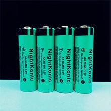 ФОТО 6  PCS/LOT  NightKonic NiMH 12V AA Rechargeable Battery