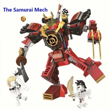 цена на 2019 Ninja The Samurai Mech Samurai Robots Mode Compatible With Lego 70665 Ninjago Building Blocks Toys Bricks for Children Gift
