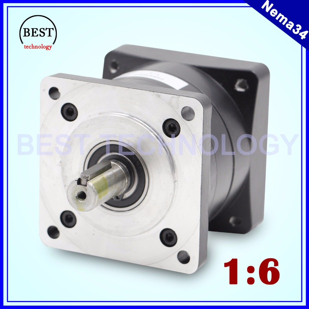 Nema34 Motor Planetary Reduction Ratio 1:6 planet gearbox 86mm motor speed reducer, High Torque high quality !!