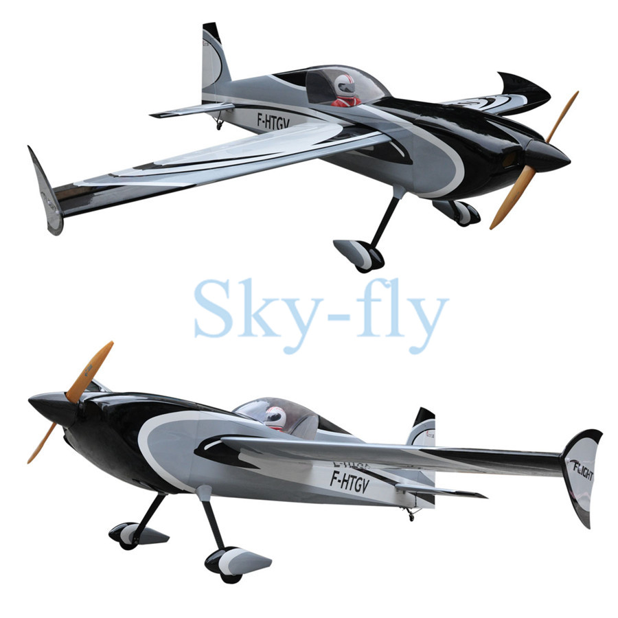 Sky-fly Slick 60cc 2311mm/91 6CH Balsa Wood ARF Fixed Wing RC Airplane IN US image