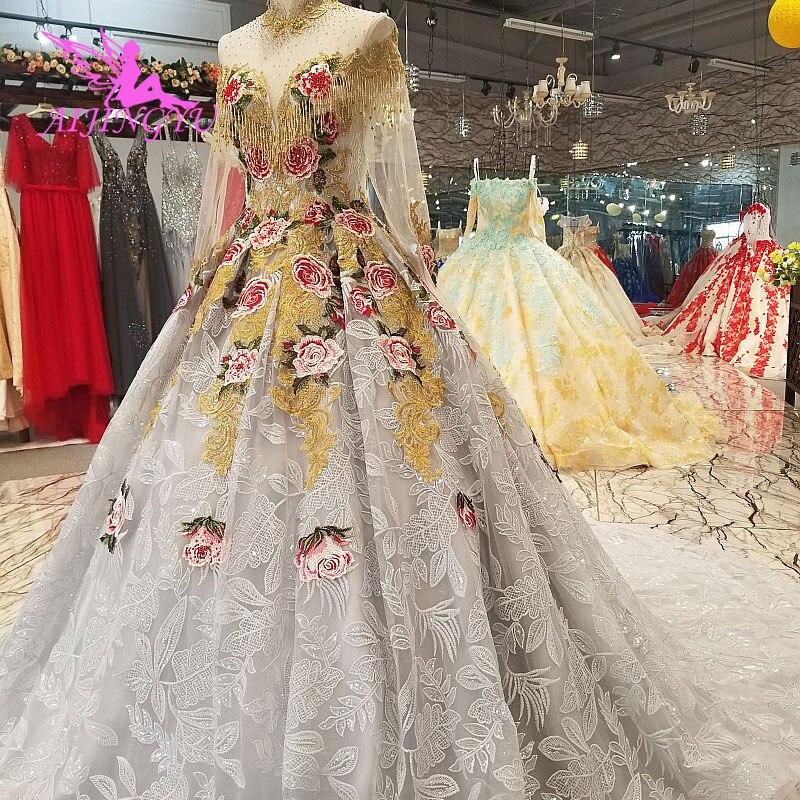 AIJINGYU Hochzeit Kleider Sammlung Einfache Brautkleider Elfenbein Beste Sexy Günstige Uk Kleid Plus Größe Muslimischen Hochzeit Kleid - 5