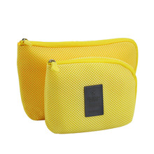 Travel Storage Bag Mesh Cloth For Digital Gadget Cable USB Cable Earphone Pen Cosmetic Bags Organizer