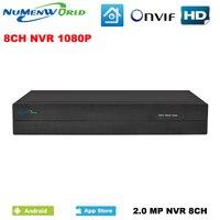 באיכות טובה HD 8CH NVR 1080 P טלוויזיה במעגל סגור NVR אבטחת 8 ערוץ רשת מקליט וידאו תמיכת ONVIF H.264 HDMI חכם למחשב צפה