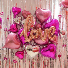 30pcs/lot Rose Gold Wedding Decor Balloons Aluminium Foil Ballon Birthday Party Decorations Adult Valentines Day Supplies