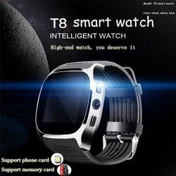 Gorący bubel karta wsparcia T8 karta SIM Bluetooth 4.0 inteligentne sportowe Swatch inteligentne urządzenie do noszenia na ciele system android inteligentny zegarek