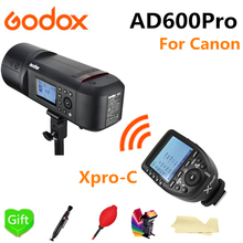 купить Godox AD600Pro TTL Outdoor Li-Battery 2.4G Wireless X System Studio Flash Strobe Light for Canon Camera + Xpro-C Flash Trigger по цене 70211.43 рублей