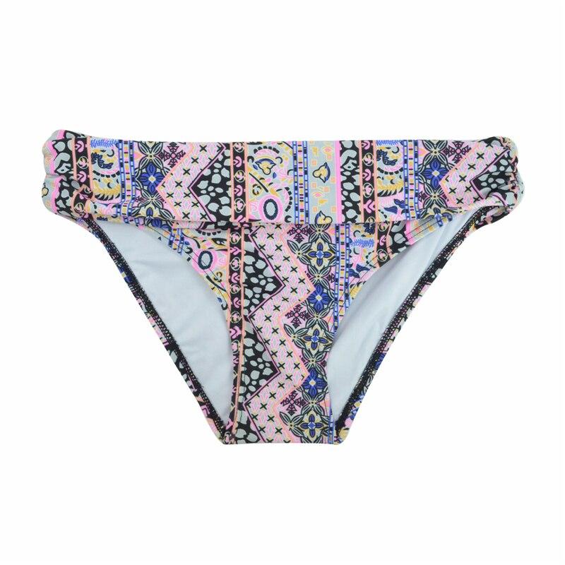 Летние женские микро бикини шорты Бикини Низ с низкой талией спортивный Ruched Сексуальная купальная одежда купальный костюм для девочек плавки B611 - Цвет: B611M