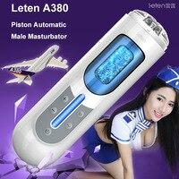 Leten Flexible Automatic masturbator Electric masturbation Sex Machine, Male rotating Masturbator vagina pussy sex toys for men