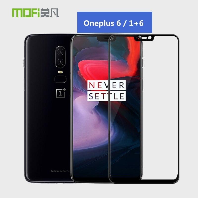D'origine MOFI OnePlus 6 Verre 3D Pleine Couverture En Verre Trempé Pprotector D'écran Pour Un Plus 6 Couverture Complète De Protection Film