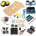 Новый Избегание отслеживания Двигатель Смарт Робот Шасси Автомобиля Комплект Скорость Энкодера Батарейный 2WD Ультразвуковой модуль Для Arduino комплекте