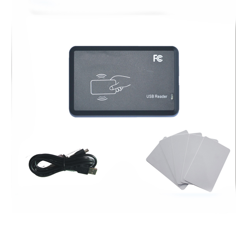 Newest  so easy  Avoid driving 125kHZ T5577/EM4305 access control card read-writer  RFID copier USB port +10 pcs cards