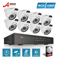 ANRAN P2P Plug And Play 1080P HD 48 IR Outdoor Waterproof Day Night Security IP POE
