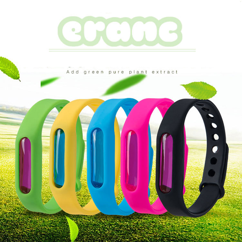Mosquito Killer Silicone Wristband Summer Mosquito Repellent Bracelet Anti Mosquito Band Children Insect Killer Safe For Child