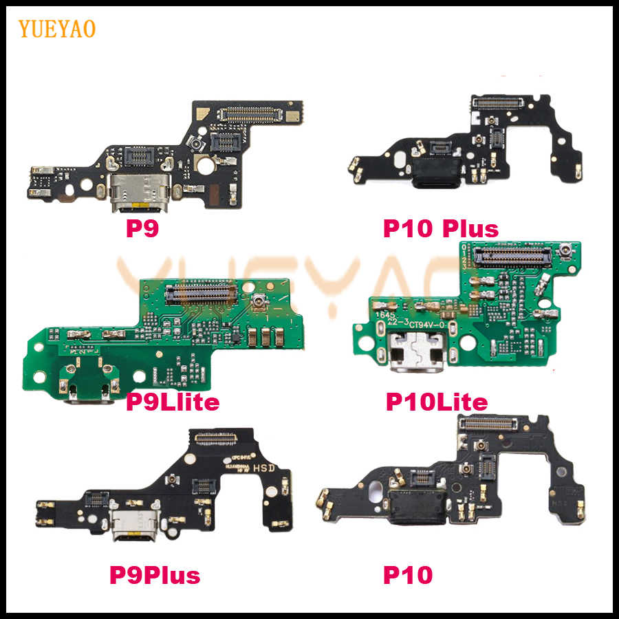 New USB Charging For Huawei P9 lite P10 lite P9 Plus P10 Plus Charger Port Dock Connector Flex Cable with Microphone Board