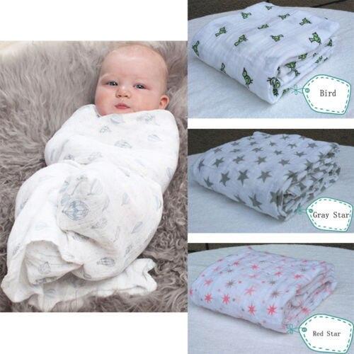 Wholesale Summer Baby Swaddle Multifunctional Big Measurement Baby Towel Newborn Blankets 120X120cm