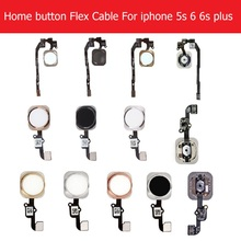 WEETEN Home Button Flex Cable Assembly For iPhone 5S SE 6 6s Plus 5 Color Screen On Contral Flex Cable phone Replacement Repair cheap Apple iPhone 1pcs black sliver gold Rose gold home key flex