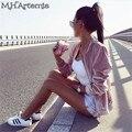 M. H. Artemis Rosa de Veludo Casaco Curto Casaco Streetwear Cropped Jacket Revestimento Curto Casual Outono Inverno Mulheres novo chic casaco Juicy
