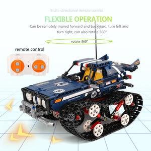 Image 5 - 金型王テクニックrcクローラレーシングカーリモートコントロール車のモデルのビルディングセット子供たちのおもちゃクリスマスギフト組み立てるレンガ