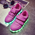 Kids Shoes With Light New Boys LED Light Sneakers USB Charge Luminous Girls Sneakers Children Sports Running Shoes Size 25~34
