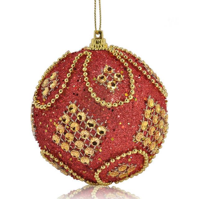 Boule Decoration.Us 2 02 16 Off Xmas Decoration Christmas Balls Rhinestone Glitter Baubles Christmas Decorations For Tree Diy Boule De Noel Pour Sa In Ball Ornaments