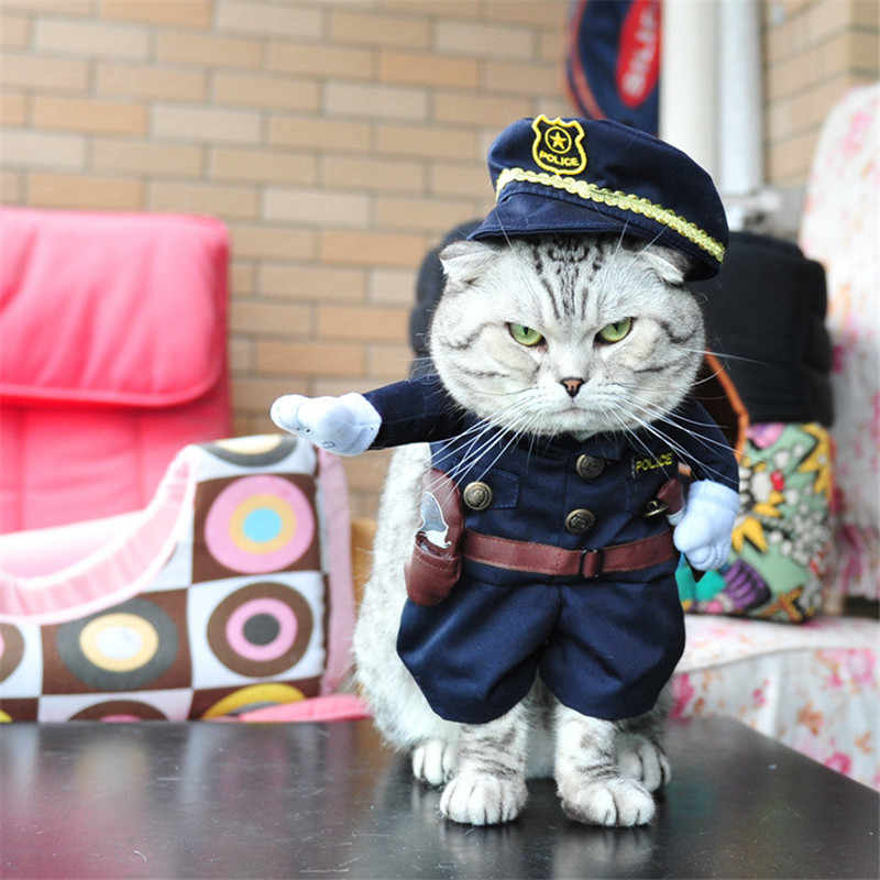 Red Army Pirate Policeman Cowboy Nurse doctor Cosplay Costume Cats outfit  small Dogs Pet Costume Clothes Halloween Christmas Set