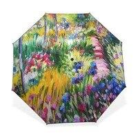 유화 비 우산 접는 양산 모네 드로잉 우산 방수 아트 유화 우산 sombrillas 파라
