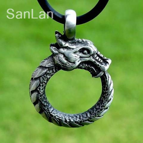 20pcs ouroboros norse dragon pendant SanLan
