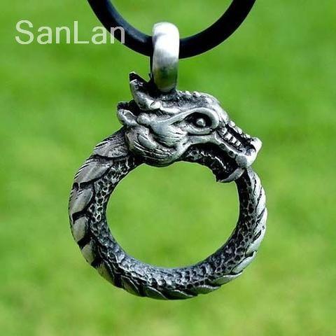 20 stücke ouroboros nordischen drachen anhänger SanLan-in Kette Halsketten aus Schmuck und Accessoires bei  Gruppe 1