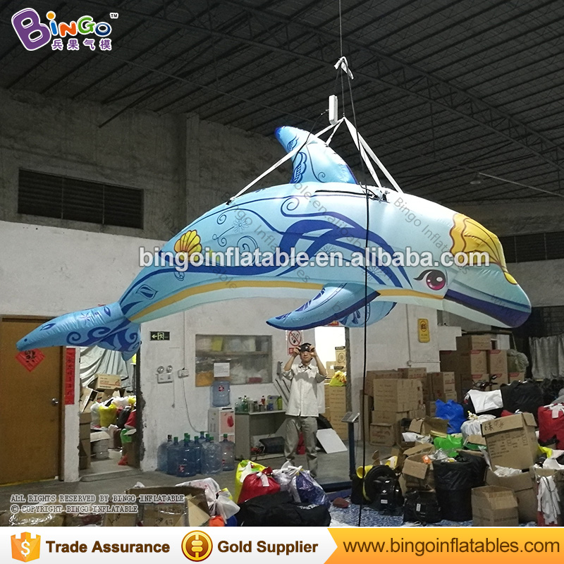2018 Hot sale hanging inflatable dolphin balloon with digital printing for advertising inflatable dolphin for market decoration