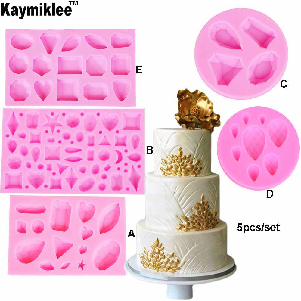 Cakes Silicone Molds Sugar Paste Mould Baking Frame Collection Border Decoration