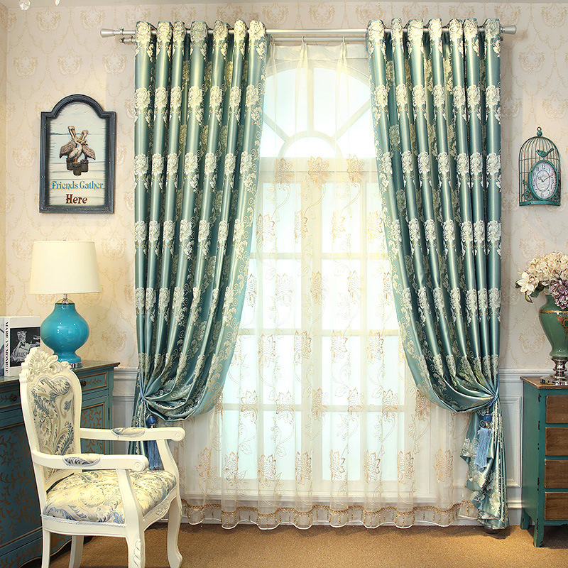 European Curtains European Golden Royal Luxury Curtains for Bedroom Window Curtains for Living Room Elegant Drapes