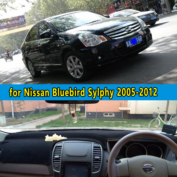 dashmat carpet dashboard covers accessories for Nissan Bluebird Sylphy Almera G11 2005 2006 2007 2008 2009