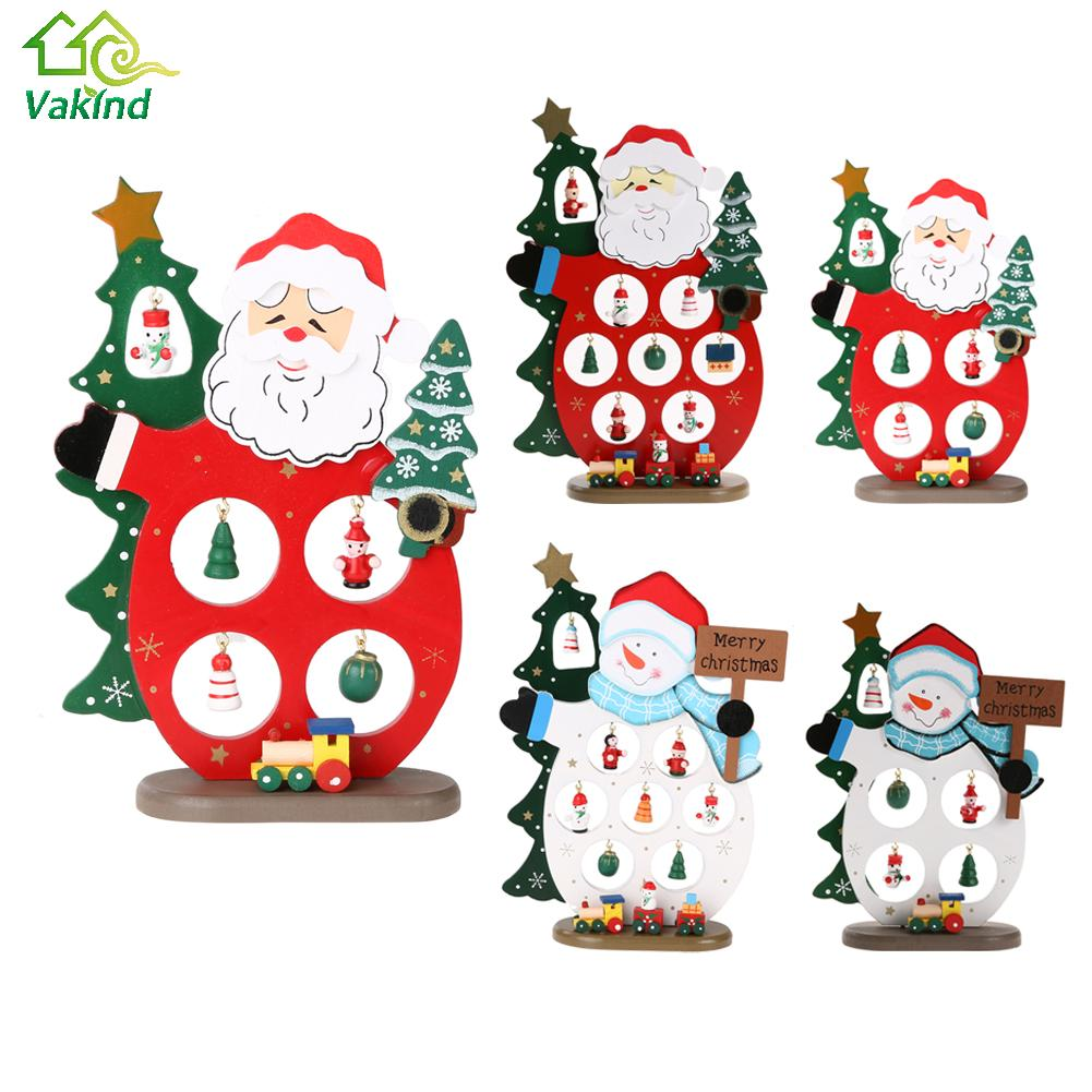 Christmas Gift Wooden Christmas Tree Home Decoration Xmas Tree Top Snowman  Ornament(china (mainland