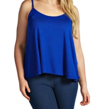 KLV Women New Plain Swing Vest Sleeveless Shirt Strappy Harness Solid Color Top Tee