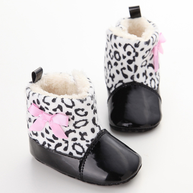 df86e084f 2016 Fashion Baby Winter Shoes Snow Boots Patent Leather Black ...