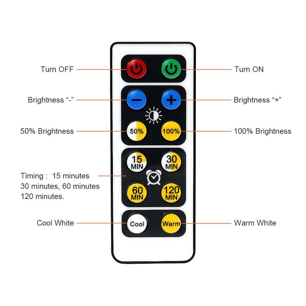 Беспроводной Дистанционный датчик касания с регулируемой яркостью светодиодный светильник под шкаф для гардероба прихожей лестницы кухни светодиодный ночник батарея мощность