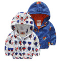 2017 Fashion Children Jackets Hooded cartoon Printed Jacket For Boys 2-6 Years Kids Outerwear Coat Baby Boys Windbreaker Clothes