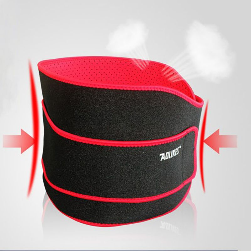 1 Pcs Weight Lifting Belt Fitness Sports Wide Back Wrist Compression Support Brace Breathable Perforated Cloth Aolikes j2