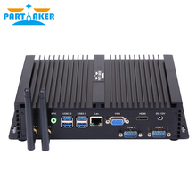 Partaker I3 Core i3 Mini PC Windows 10 7 8 i3 6006u Fanless Industrial PC With 2 RS232 COM Intel HD Graphics 4400 4K