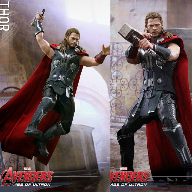 "Collectible Full Set Hot Toys 1/6 MMS306 Avengers: Age of Ultron Thor Collectible 12"" Action Figure for Fans Holiday Gift"