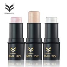 3 colors Choice Make up Highlighter Shimmer Stick Bronzer and Highlighter Contour Powder Cream Silver Gold Highlighting