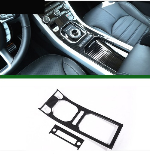 Carbon Fiber Style ABS Plastic For Land Rover Range Rover Evoque 12-17 Center Console Gear Panel Decorative Cover Trim Newest newest for land rover range rover evoque abs center console gear panel chrome decorative cover trim car styling 2012 2017 page 7