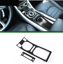 Carbon Fiber Style ABS Plastic For Land Rover Range Evoque 12-17 Center Console Gear Panel Decorative Cover Trim Newest