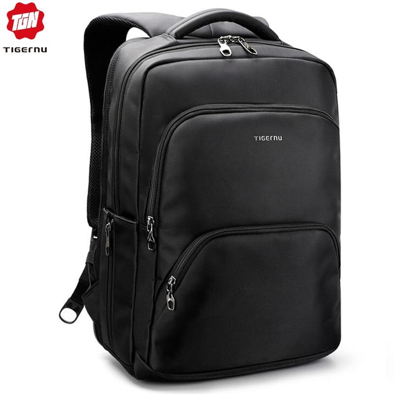 Tigernu Waterproof Large Capacity 17 Inch Man Backpacks Laptop Bag Black Backpack For Women School Bags Mochila Masculina