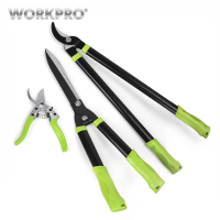 WORKPRO 3PC Pruning Shears Set Fence Shear High branch shear Pruning Tool Set for Garden Grass