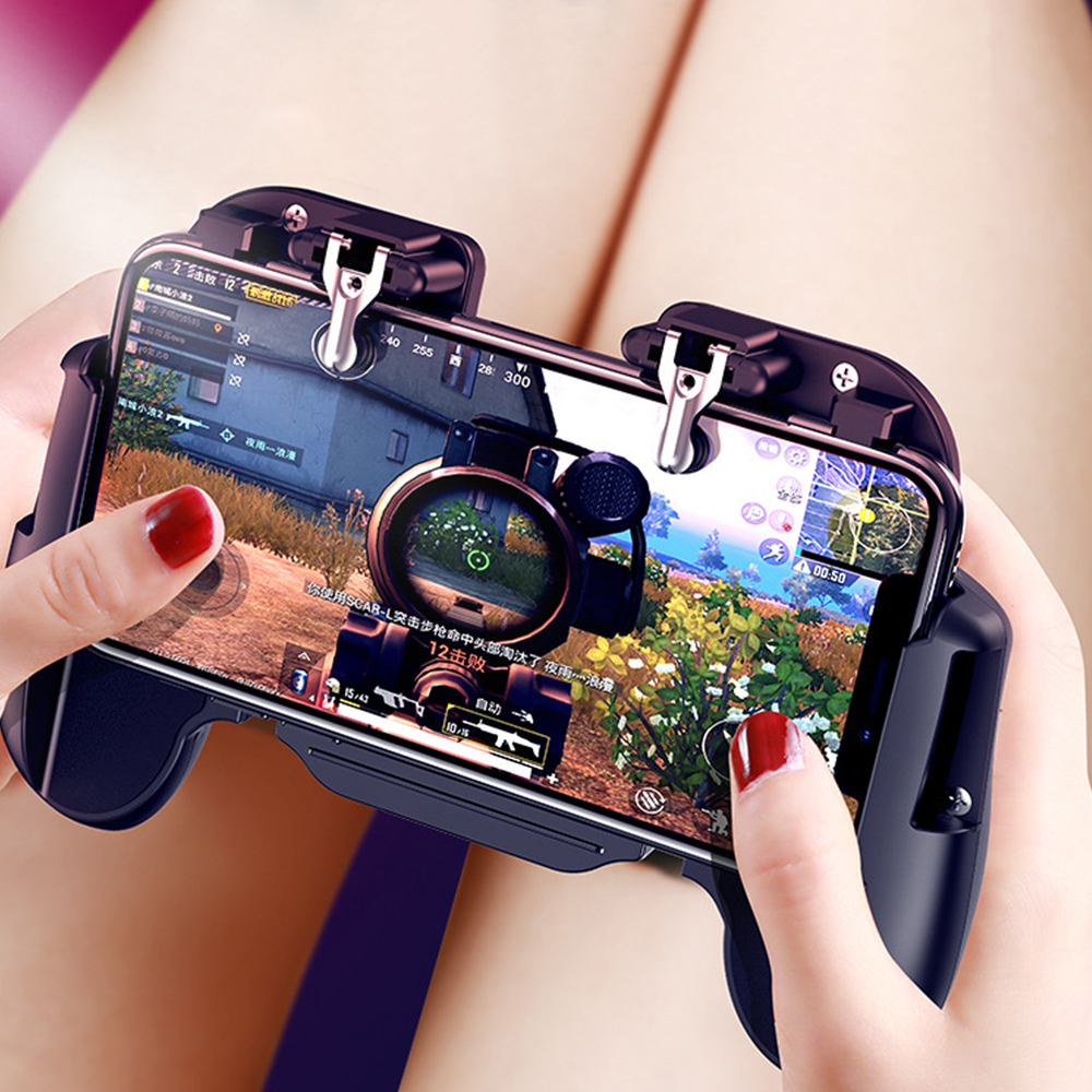 Image 2 - PUBG Mobile Game Controller for iPhone Android Phone Gamepad Trigger Aim Button L1R1 Shooter Joystick For Game Pad Accesorios-in Gamepads from Consumer Electronics