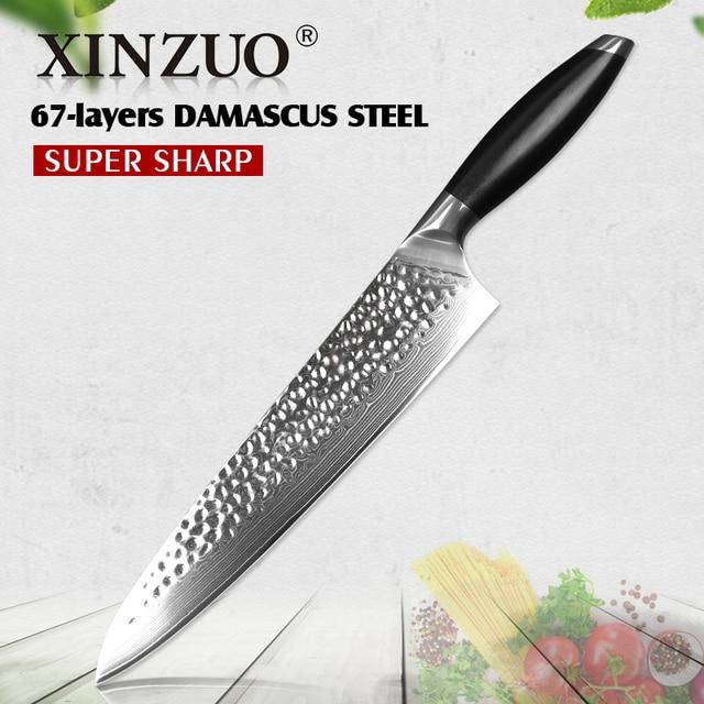 xinzuo 10 chef knife handmade 10cr15comov core high carbon
