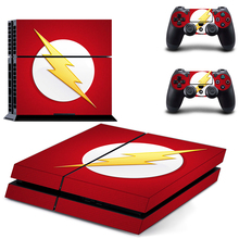 DC The Flash Man PS4 Skin Sticker Decal Vinyl for Sony Playstation 4 Console and 2 Controllers PS4 Skin Sticker