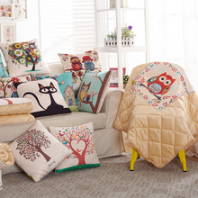 Lovely Animal Cushions High Quality Modern Printed Pillow Blanket Home Decor Throw Pillow Quilt Air conditioning Quilt BZB006