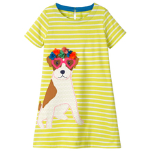 Girls Dress Funny Dog Girl Clothes For 1-10Years Toddler Costumes Teenage Kids Dresses For Girl Princess Dress Children Clothing hayden teenage girls casual dresses designer children clothing kids girl patchwork pleated dress juniors loose shift dress